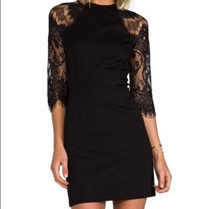 Lace Sleeve and Back Cocktail Dress